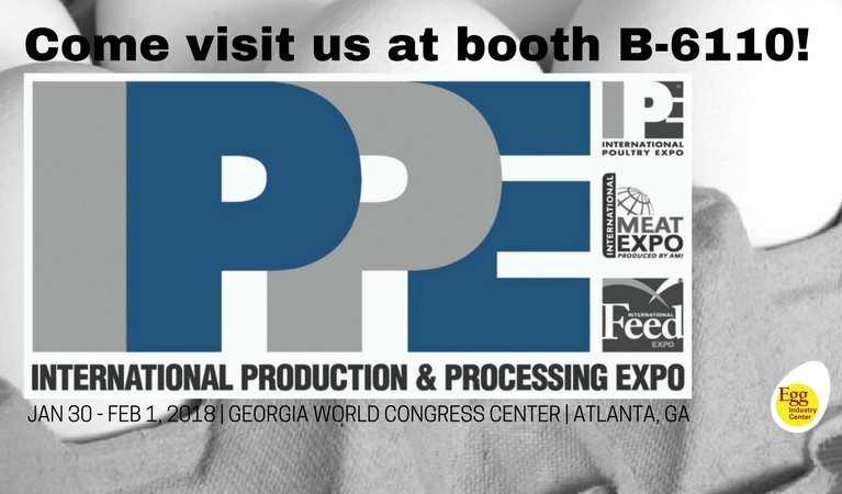 IPPE Logo with B-6110 booth location noted