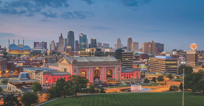Photo of Kansas City Skyline with Union Station in foreground