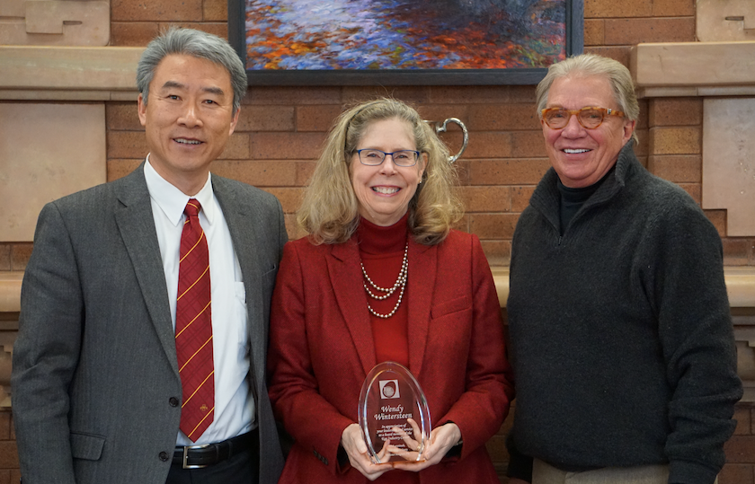 Left to Right, Dr. Hongwei Xin, President Dean Wintersteen and EIC Board Vice Chair Mr. Blair Van Zetten