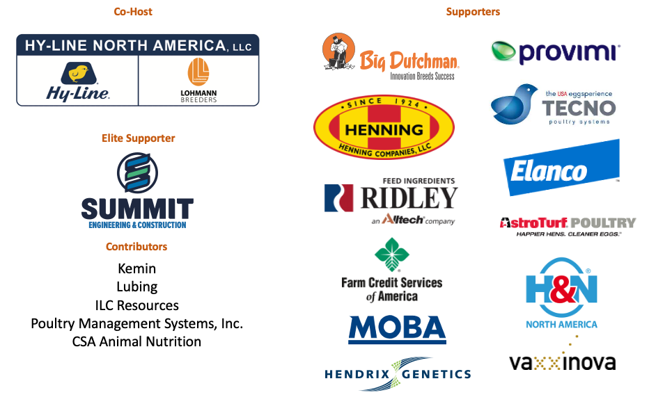 Graphic of all 2021 Egg Industry Issues Forum Sponsors